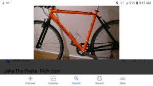 KONA Jake The Snake CYCLOCROSS frame and fork only. Asking $140