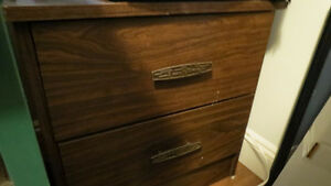 Bedside Table 2 drawer and Queen Set with Frame