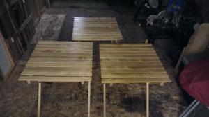 Folding TV tables ( Mennonite made)