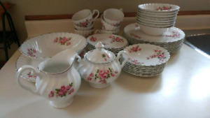 Vintage Snowhite Regency Ironstone by Johnson Bros. In England