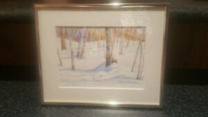 Water colour - Birch trees  by Sonia Chivers