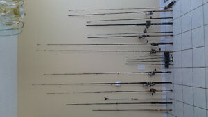 FISHING RODS, REELS, TACKLE, LURES & BOXES  ( ALL NEW )