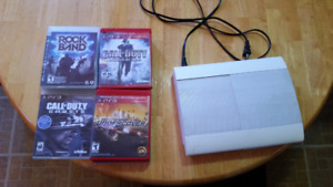 Arctic white Ps3 and games