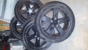 Four Michelin All Season Tires With Alloy Tinted Rims