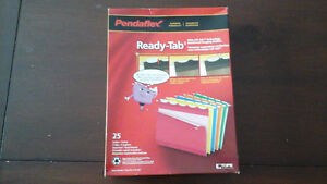 NEW   Pendaflex  25 ready tab letter size file folders