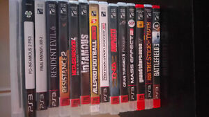 PS3,  PSP  and Xbox 360 games for sale