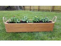 Bespoke rustic finish reclaimed wooden planter
