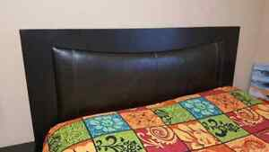 Leather Queen Bed room set with Drawer and dreser