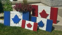 Canadian and Toronto Maple Leaf tobacco stick flags