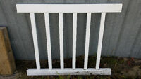 White vinyl railing kit