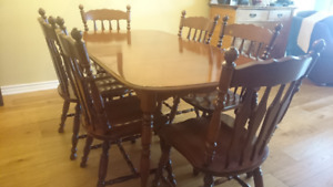 Dining Table, Six Chairs plus Buffet/Hutch