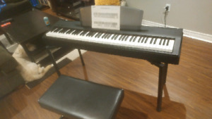 Yamaha p60 88 key digital piano with bench and stand