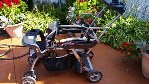 BABY TRENDS DOUBLE STROLLER SIT N STAND