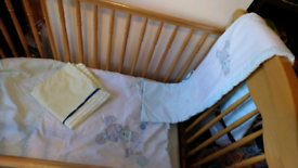 BABY COT FROM MOTHERCARE IN IMMACULATE CONDITION.