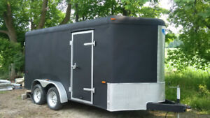 7 X 14 foot  V nose tandem axle enclosed trailer for sale