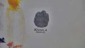 Limited edition art by elephant Kamala at the Calgary Zoo. Revelstoke British Columbia image 3