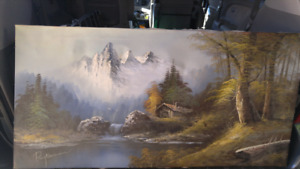 Ray Norman landscape oil painting.