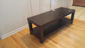 Espresso tv stand/ coffee table