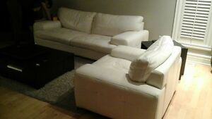 Soft real leather couches
