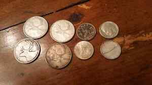 Canada silver coins Quarters and dimes