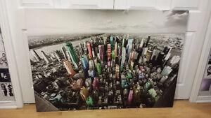 Tableau panoramique Manhattan / Panoramic view of Manhattan