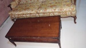 Antique sofa with coffee table London Ontario image 2