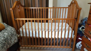 Baby crib and free water proof mattress $70 FIRM