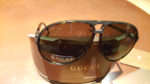 NEW Auth. GUCCI GG 1646/S O1670 Tortoise Aviator Sunglasses