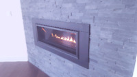 Fireplaces with installs.