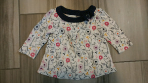 Girls Gymboree Shirt 0-3 months EUC