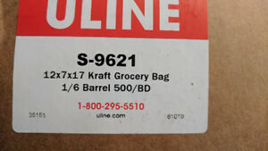 "Paper Grocery Bags - 12 x 7 x 17"", 1⁄6 Barrel, Kraft"