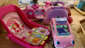 Lot of baby girl toys