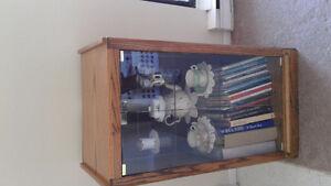 Glass doored cabinet