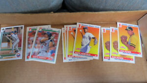 MLB rookie cards from 1991(Peters,Newfield,Munoz,Gonzalez)