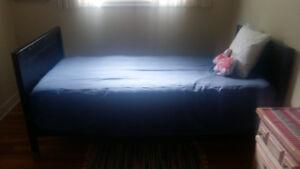 Single Ikea bed and Sealy posturepedic Mattress with Eurotop
