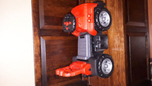 Toddler Red jeep ride on toy