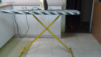 Iron and 2 Ironing boards