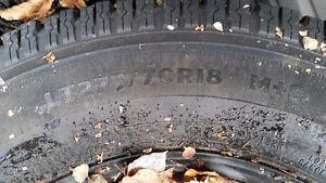 Studded winters on steel rims Prince George British Columbia image 1