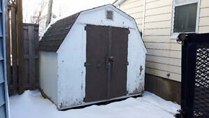Used 8'x8' Wood Shed with Shingle Roof