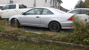 2005 Honda Civic lx Coupe (2 door) 600$$
