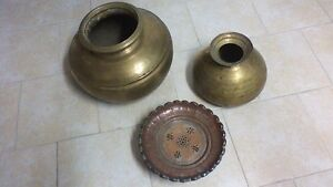 Solid Brass and Copper Pots