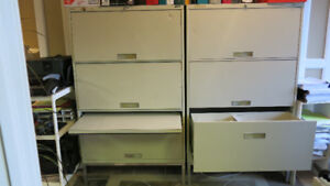 Used metal filing cabinets