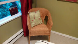 Small wicker chair: $10