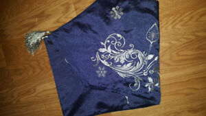 New Sparkly blue silver table runner