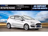 2015 Ford Fiesta 1.0 EcoBoost Zetec S - INSURANCE FREE!!!