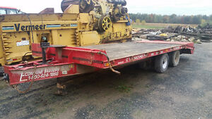 12 Ton heavy duty float equipment trailer with hydraulic ramp
