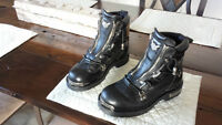 Harley Davidson leather Womens riding boots