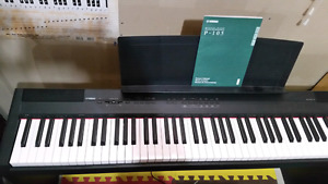 Yamaha P105B w/Base and bench