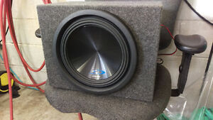 Alpine Subwoofer and amp