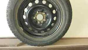 "4 - 195/65R-15 Snow Tires on 15"" steel rims - $150 London Ontario image 1"